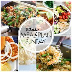 Easy Meal Plan Sunday {Week 42}