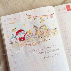 メリークリスマスカウントダウンも終わり 楽しいクリスマスでしたお付き合いありがとうございました(_) #クリスマスカウントダウン #ほぼ日手帳オリジナル #ほぼ日手帳 #ほぼ日 #lulucube by poco_lulucube