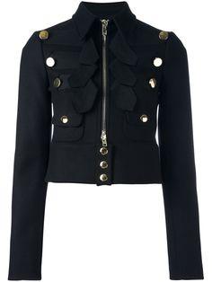 Givenchy veste crop à empiècements superposés