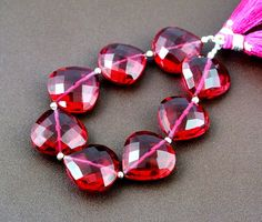 8Pcs/4 Matched Pair AAA Hot Pink Quartz by RareGemsNJewels on Etsy, $36.99