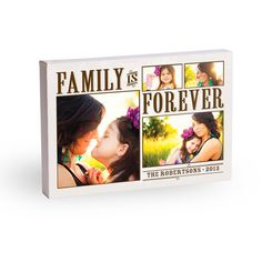 Family is Forever. Personalized canvas prints from Treat.com.