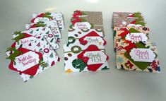 Weihnachtsgeschenke für Kunden (Teebären)  mit Stampin'up! @ Ute Lamprecht Gift Wrapping, Up, Gifts, Holiday, Glee, Gift Wrapping Paper, Presents, Wrapping Gifts, Favors