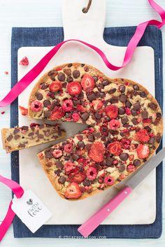 Torta cookie con gocce di cioccolato (Chocolate chip cookie cake) Chiarapassion