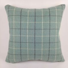 "New Bamburgh Tartan Check Cushion Cover, 16"" x 16"" Soft Like Wool Feel"