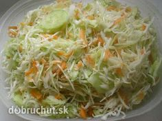 Kapustový šalát Low Carb Recipes, Healthy Recipes, Salad Dressing, Eating Well, Cabbage, Good Food, Food And Drink, Vegetarian, Homemade