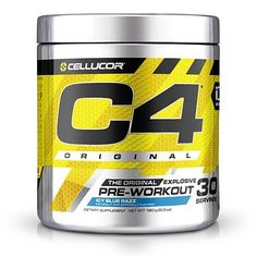 Product review for Cellucor C4 Pre-Workout Supplement with Creatine Nitrate and Beta Alanine, Icy Blue Razz, 30 Count -  C4 Original is a pre-workout powder that energizes your workouts and takes your fitness to the next level. C4 Original's high-powered formula features a special blend of patented ingredients that put the edge in energy and performance. When to take C4: You need energy. You want to have a... -  http://www.bestselleroutlet.net/product-review-for-celluc