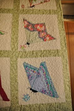 Butterfly quilt from vintage hankies?