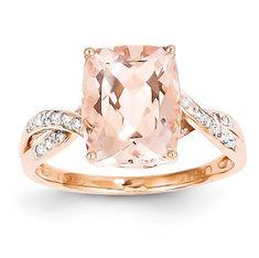 Cushion-Cut Morganite & Diamond Ring | Aston Royal
