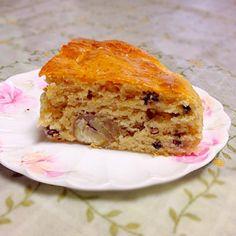頂き物の栗を小豆と一緒にケーキにしました。 玉子、乳製品は不使用です。 - 5件のもぐもぐ - 栗と小豆のケーキ by comsmiwa