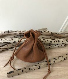 Items similar to Leather Drawstring Pouch Bag - Brown Nubuck Leather - Medium Size on Etsy Leather Bags Handmade, Handmade Bags, Leather Pouch, Leather Men, Medicine Bag, Sack Bag, Coin Bag, Drawstring Pouch, Little Bag