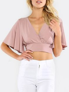 Shop a great selection of Milumia Women's Sexy Deep V Neck Cross Wrap Slim Fit Crop Tops. Find new offer and Similar products for Milumia Women's Sexy Deep V Neck Cross Wrap Slim Fit Crop Tops. Cropped Tops, Knit Fashion, Fashion Outfits, Casual Outfits, Women's Fashion, Mode Inspiration, Look Cool, V Neck Tops, Blouse Designs
