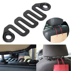 Car Seat Hook Vehicle Headrest Hanging Hanger Bags Clothes Holder. Features:    1. 100% Brand New And High Quality.  2. Durable And Practical.  3. Applicable To The Most Of Universal Vehicle.  4. You Can Install It Under Your Headrest To Save Space And Beautify You Loved Car.  5. The Effective Use Of Space To Make Your Car Tidy.  6. Hang Clothes, Jackets, Handbags, Grocery Bags And Purses To Keep Your Car Tidy And Clutter Free.  7. Material: Plastic  8. Color: Black    package Includes:    1…