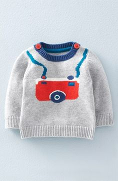 Mini Boden 'Fun' Knit Sweater (Baby Boys & Toddler Boys) available at #Nordstrom