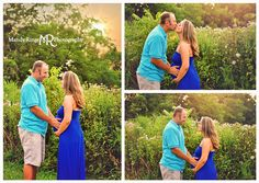 Maternity Portraits // Family of three, maternity, shades of blue, outdoor // Leroy Oakes - St Charles, IL // by Mandy Ringe Photography