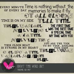 Art Journaling :: Elements :: About Time - Word Art
