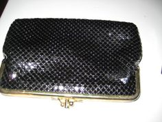 Upscale Black Sequence Clutch Purse Vintage by ShabbyBuyDesign, $10.00