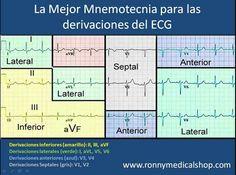 Derivaciones y anatomía del corazón. #ekg #ecg #cardiología #enfermería #electrocardiografía