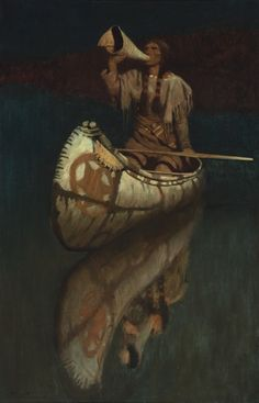 The Signal – Works – Collections, N C Wyeth Native American Artwork, American Indian Art, Native American History, Native American Indians, American Artists, Nocturne, Nc Wyeth, Indigenous Art, Outdoor Art