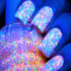funfetti glow nail polish - via http://ift.tt/1W90dzS