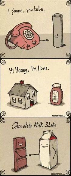 Answer- 1. I found Youtube 2. Hi honey #wife I am Home 3. Chocolate-milk shake
