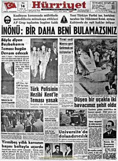 Turkey History, Turkey Country, Newspaper Headlines, Nostalgia, Once Upon A Time, Politics, Life, Crafts, Manualidades