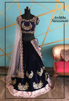 Make a grand royal entry in our midnight blue and blush pink lehenga embellished beautifully from orb of night collection !! archithanarayanamofficial orbofnight midnightblue blushpink embellished grand royal lehenga bridalcouture 21 November 2016