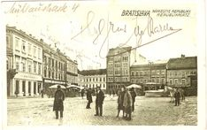 Bratislava, Old Street, Historical Photos, Squares, Street View, Times, Retro, Historical Pictures, Bobs