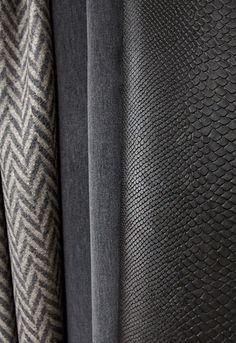 Jackson Wool Velvet in Charcoal / Nickel