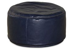 Candemir Leather Pouf, Indigo on OneKingsLaneㅣEqual parts harem chic and Old World indoor couture, the pouf plays many roles.