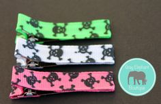 Skulls Hair Clip Trio by GrayElephantBoutique on Etsy