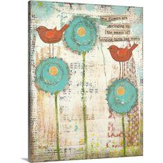 'Singing Birds' by Cassandra Cushman Canvas Wall Art, Multi-Color
