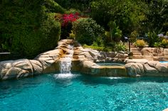 No better way to beat the LA heat than in this stunning swimming pool at 2174 Roscomare Road!