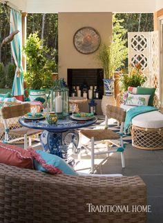 A covered terrace provides spots for lounging and dining. - Photo: John Bessler / Design: John Loecke & Jason Oliver Nixon