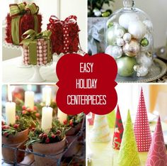 nice ideaseasy affordable christmas centerpieces from martha stewart