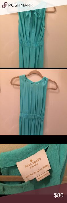 Kate Spade turquoise dress Kate Spade turquoise dress - size small.  The bow is on the back.  Dress goes to just above above the knees. kate spade Dresses
