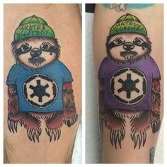 You could get matching sloth lovers. | 28 Sloth Tattoos That Prove How Eternally Amazing Sloths Are