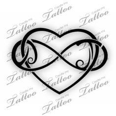 heart design #30590 | CreateMyTattoo.com
