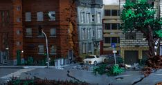 A photorealistic earthquake scene built by Ralf Langer.
