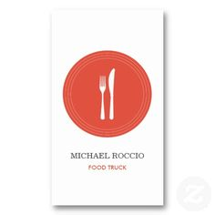 Shop Fork & Knife Logo for Restaurant, Food Truck, Chef Business Card created by Personalize it with photos & text or purchase as is! Restaurant Logo Design, Restaurant Food, Catering Business, Catering Companies, Knife Logo, Food Marketing, Kitchen Logo, Food Truck Design, App Logo