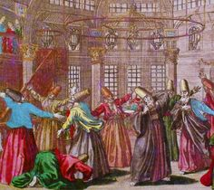 Islamic mysticism. Whirling dervishes. Jean-Baptiste van Mour - Galata Mevlevihanesi