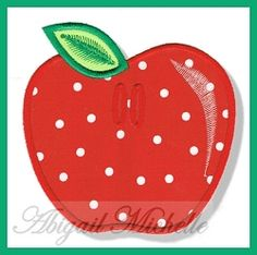 Apple Banner Add On - 4 Sizes!   What's New   Machine Embroidery Designs   SWAKembroidery.com Abigail Michelle