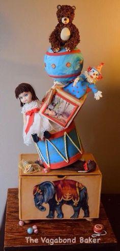 Vintage Toys in the Attic Cake - Cake by Cynthia Lorow