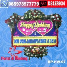 toko bunga papan happy wedding di bandung: toko bunga papan wedding di bandung