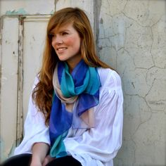 Squeak's digitally printed silk scarves. Lake Wanaka Design. www.squeakdesign.com