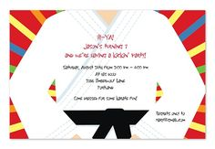 Nice Martial Arts Birthday Invitations Ideas  Download this invitation for FREE at http://www.bagvania.com/martial-arts-birthday-invitations-ideas.html