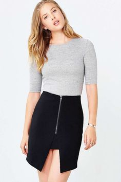 Love Sadie Front-Slit Mini Skirt - Urban Outfitters