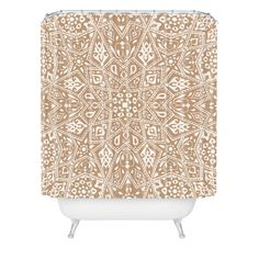 Aimee St Hill Amirah Neutral Shower Curtain | DENY Designs Home Accessories