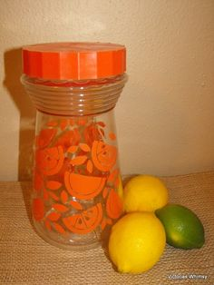 Pyrex Vintage Citrus Juice Carafe by VictoriasWhimsy on Etsy, $10.00