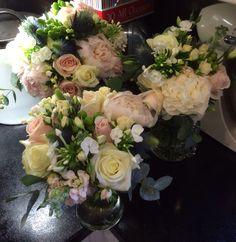 Wedding bouquets bride bridesmaid Wedding Bouquets, Floral Wreath, Bridesmaid, Wreaths, Ideas, Decor, Maid Of Honour, Flower Crowns, Wedding Brooch Bouquets