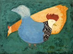 Milton Avery - Two Chickens